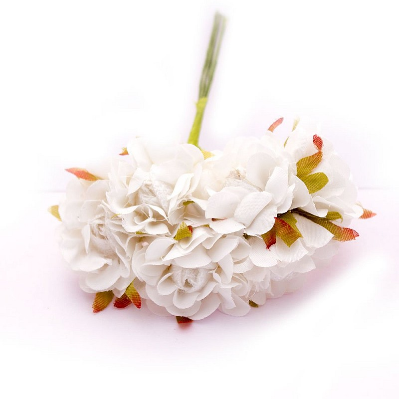Buy artifical fabric flowers white pack of 12 flowers online in artifical fabric flowers white pack of 12 flowers mightylinksfo