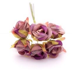 Artifical fabric flowers - Vintage Purple (Pack of 12 flowers)