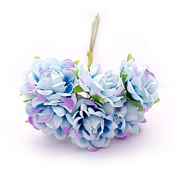 Artifical fabric flowers - Blue (Pack of 12 flowers)
