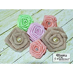 Papericious Handmade Fabric Flowers (FL3001)