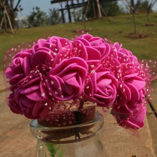 Foam Roses - Dark Pink (Set of 24 roses)