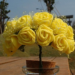 Foam Roses - Yellow (Set of 24 roses)