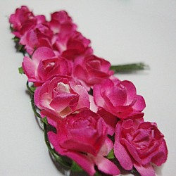 Mulberry Paper Roses - Two Toned Pink (pack of 24 roses)