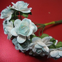 Mulberry Paper Roses - Two Toned Sky Blue