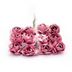 Mulberry Paper Roses - Velvet Pink (Pack of 24 roses)