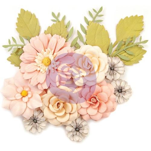Prima Marketing Mulberry Paper Flowers - Everyday Beauty/Spring Farmhouse, 15/Pkg