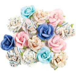 Prima Marketing Mulberry Paper Flowers - Golden Coast 15/Pkg