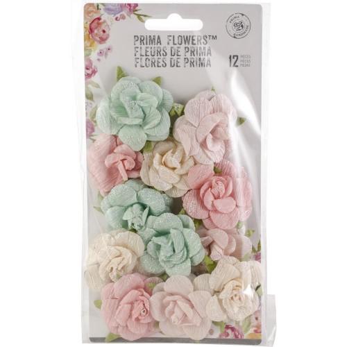 Prima Havana Crepe Paper Flowers 12/Pkg