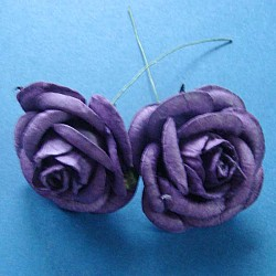 Mulberry Paper Roses (Extra Large) - Purple (Pack of 5 roses)
