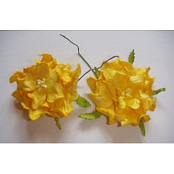 Curled Flowers (Large)  - Yellow (A pack of 5 flowers)