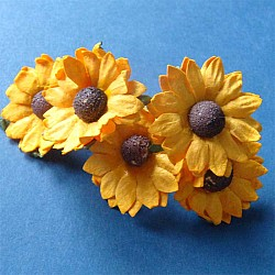 Mulberry Daisies - Yellow (Pack of 10 flowers)