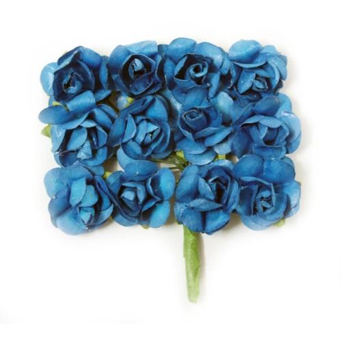 Mulberry Paper Roses - Dark Blue (Pack of 24 roses)