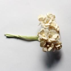 Periwinkles Flowers - Cream (Pack of 10 flowers)