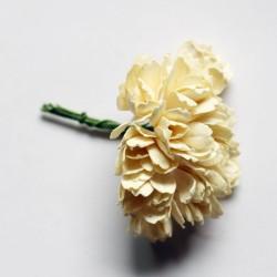 Carnation Flowers - Cream (Pack of 10 flowers)