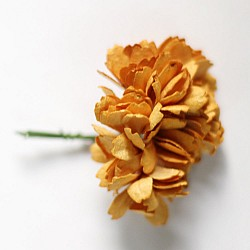 Carnation Flowers - Dark Yellow (Pack of 10 flowers)
