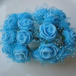Foam Roses - Baby Blue (Set of 24 roses)