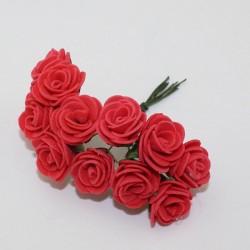 Foam Roses - Red (Set of 12 roses)