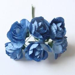 Paper Roses - Dark Blue (Pack of 12 roses)