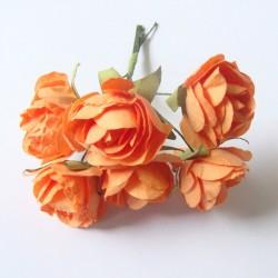 Paper Roses - Dark Orange (Pack of 12 roses)