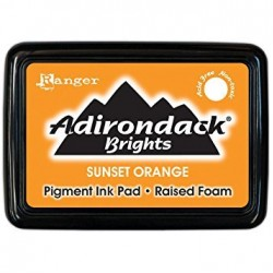 Adirondack Pigment Ink Pad Brights - Sunset Orange