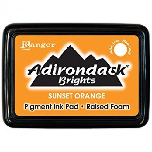 Adirondack Pigment Ink Pad Brights - Sunset Orange