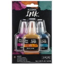 Brea Reese Alcohol Inks 20ml 3/Pkg - Medium Magenta/Orange/Turquoise