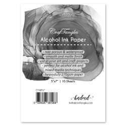 CrafTangles alcohol ink paper (Pack of 10 sheets) - 5by7 inch - 350 micron