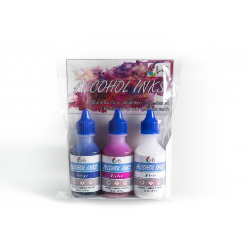 HS Alcohol Inks - Set 5 (Indigo, White and Violet)