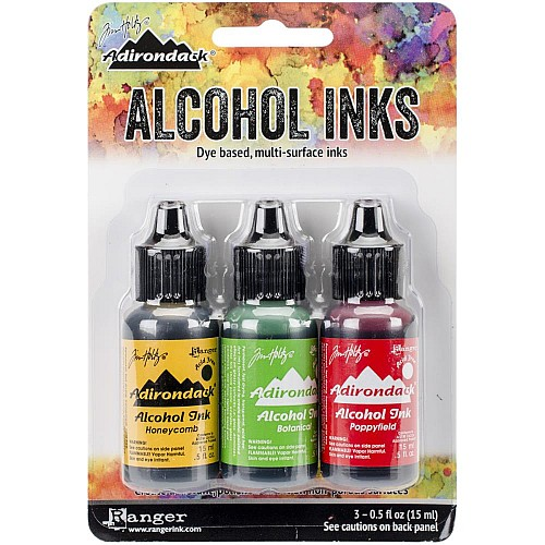 Tim Holtz Earth Tones Alcohol Inks - Conservatory (Pack of 3)