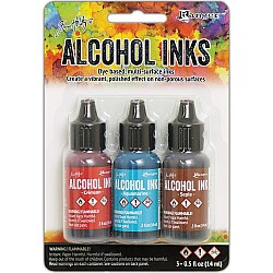 Tim Holtz Earth Tones Alcohol Inks - Rodeo (Pack of 3)