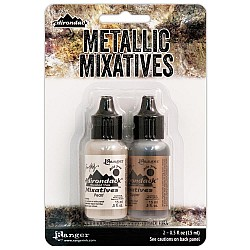 Tim Holtz Alcohol Ink Metallic Mixatives - Copper and Pearl