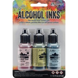 Tim Holtz Earth Tones Alcohol Inks - Countryside (Pack of 3)