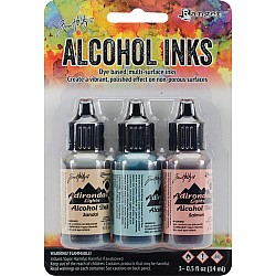 Adirondack Earth Tones Alcohol Inks - Lakeshore (Pack of 3)