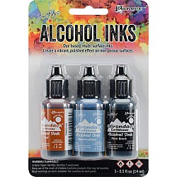 Tim Holtz Earth Tones Alcohol Inks - Miners Lantern (Pack of 3)