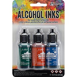 Tim Holtz Earth Tones Alcohol Inks - Rustic Lodge (Pack of 3)