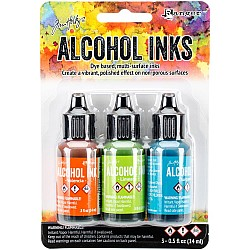 Tim Holtz Earth Tones Alcohol Inks - Springbreak (Pack of 3)