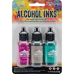 Tim Holtz Earth Tones Alcohol Inks - Valley Trails (Pack of 3)