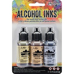 Tim Holtz Earth Tones Alcohol Inks - Wildflowers (Pack of 3)