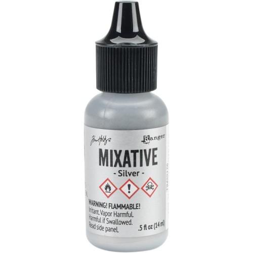 Tim Holtz Alcohol Ink Metallic Mixatives - Silver