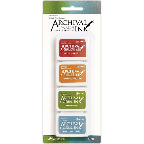 Wendy Vecchi Archival Mini Ink Pad Kit # 4 (Set of 4)