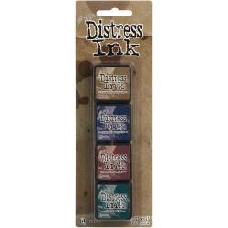 Tim Holtz Mini Distress Ink Pad Kit # 12 (Set of 4)