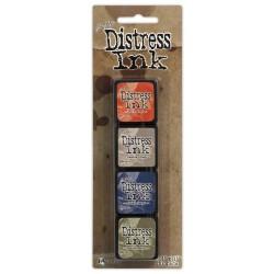 Tim Holtz Mini Distress Ink Pad Kit # 5 (Set of 4)