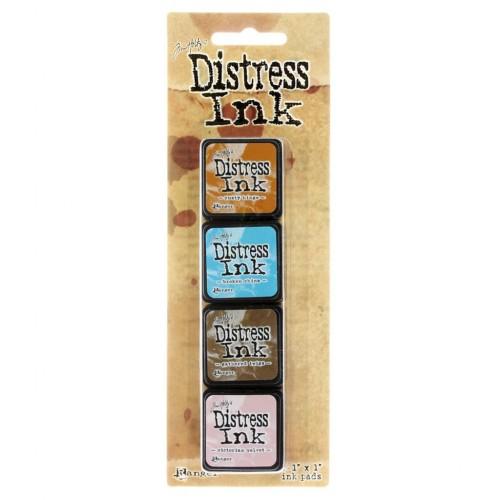 Tim Holtz Mini Distress Ink Pad Kit # 6 (Set of 4)