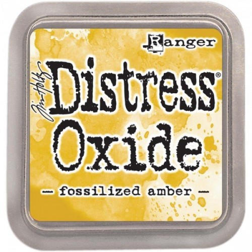 Tim Holtz Distress Oxides  -  Fossilized Amber