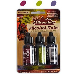 Tim Holtz Earth Tones Alcohol Inks - Farmers Market (Pack of 3)
