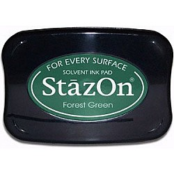 StazOn Solvent Ink Pad - Forest Green
