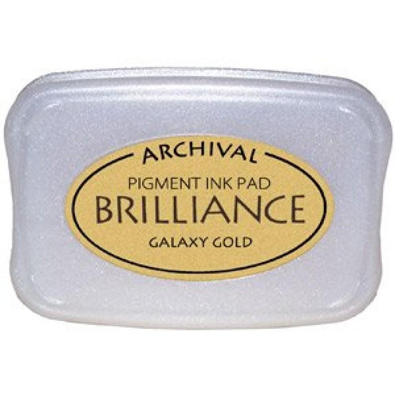 buy brilliance archival pigment inkpad   galaxy gold