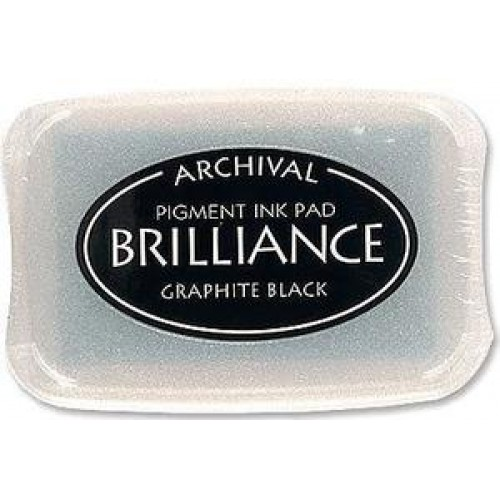 Brilliance Archival Pigment InkPad - Graphite Black