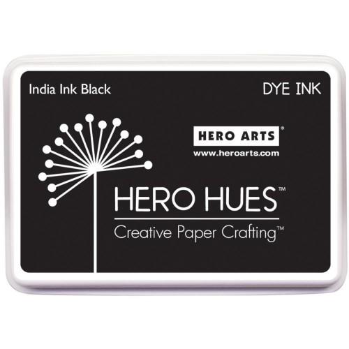 Hero Hues Dye Ink Pad - India Ink Black