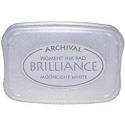 Brilliance Archival Pigment InkPad - Moonlight White